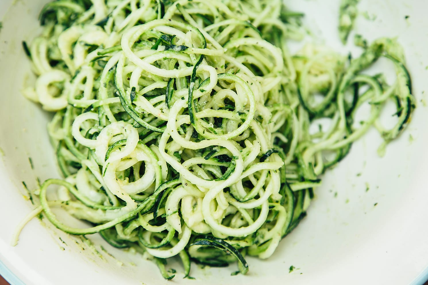 for Creamy Zucchini Noodles with Spring Onion Miso Sauce & Cheesy Sunflower Sprinkle - The First Mess