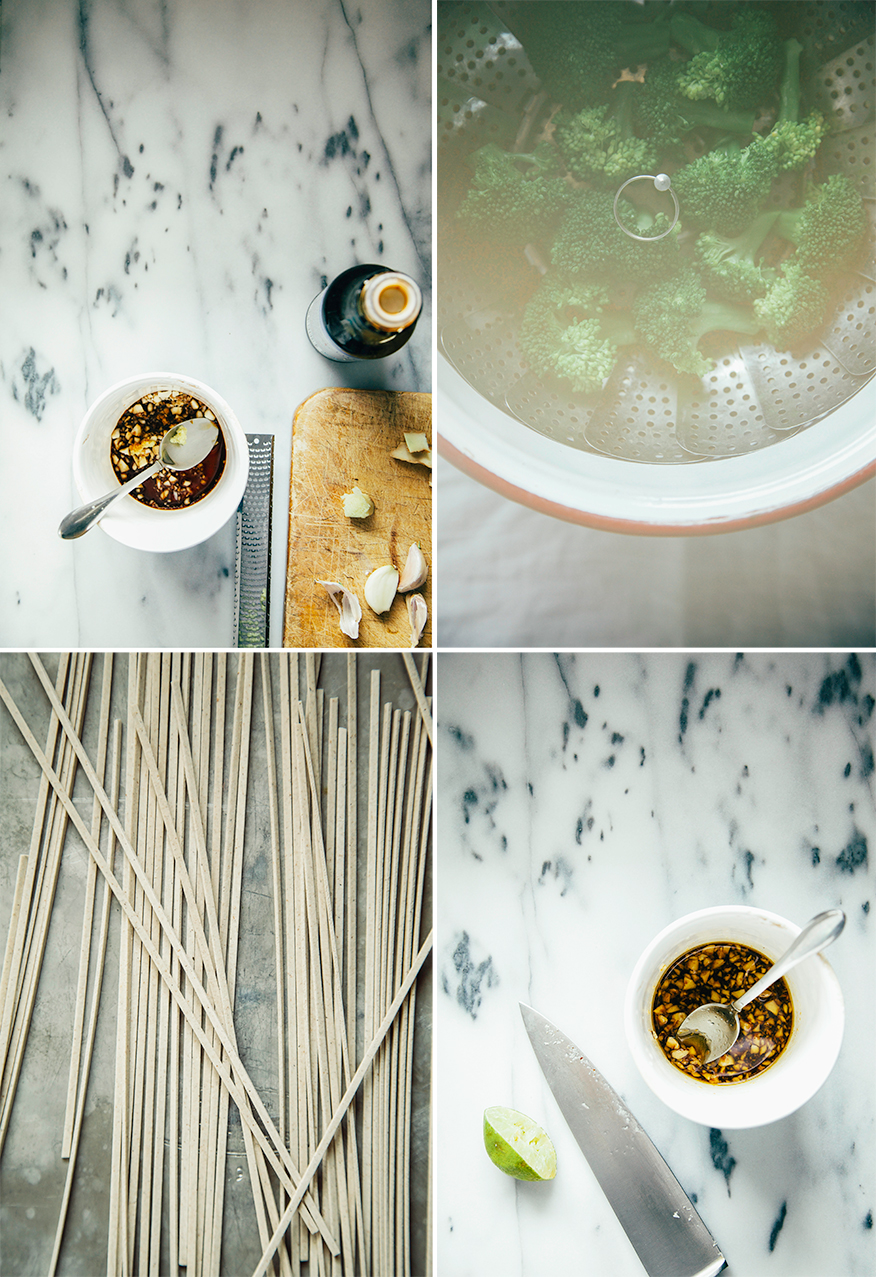 simple, salty, sweet + nutty broccoli soba // the first mess