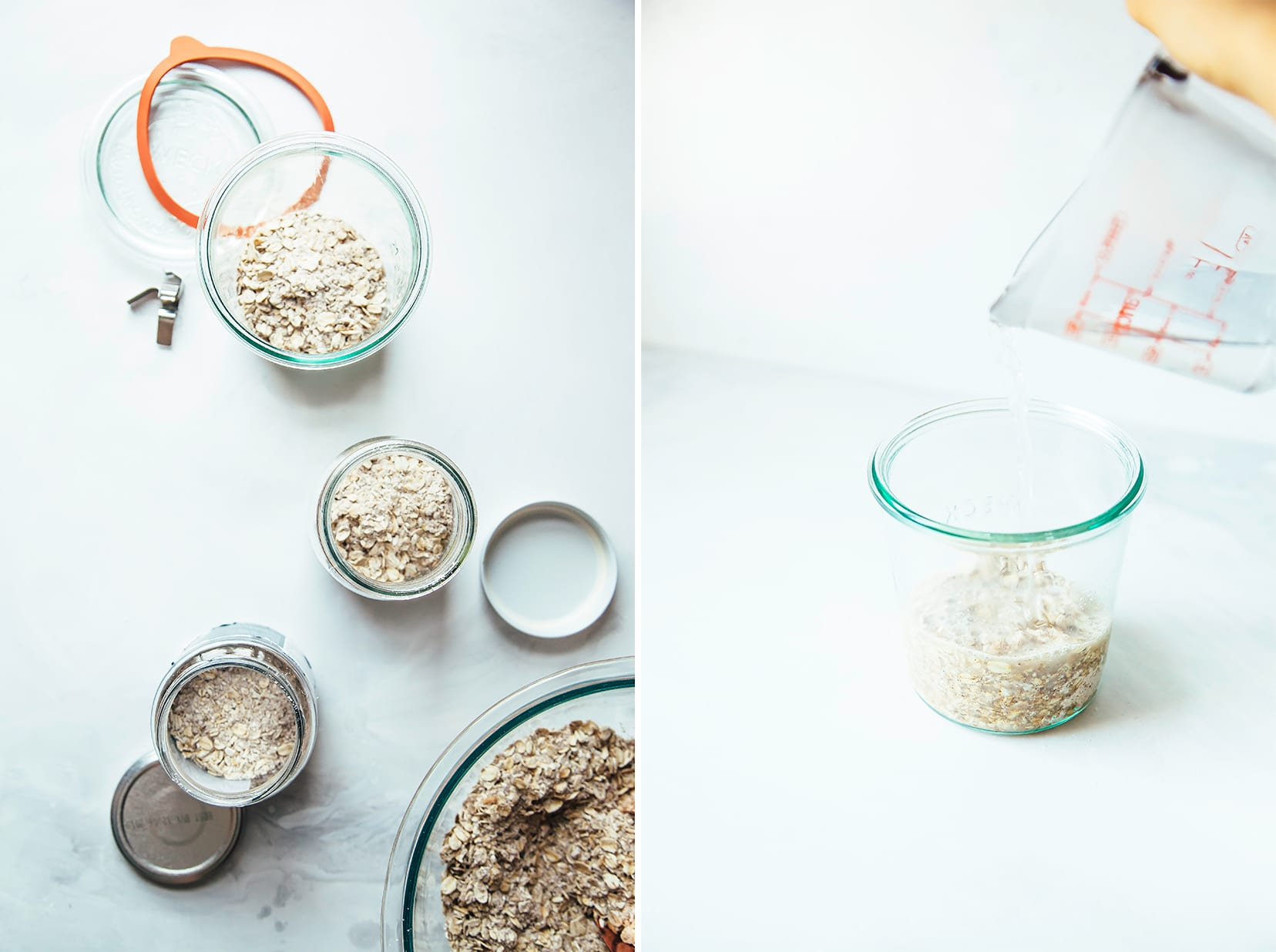 Images show DIY instant oatmeal packed into jars.