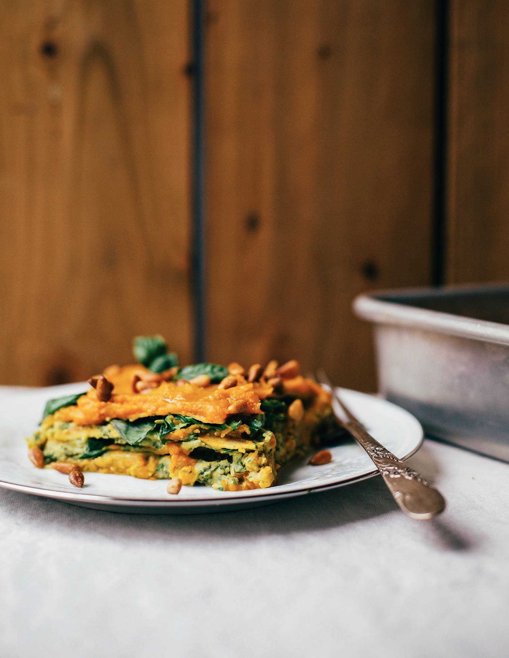 Butternut and Pesto Cream Lasagna from The First Mess Cookbook
