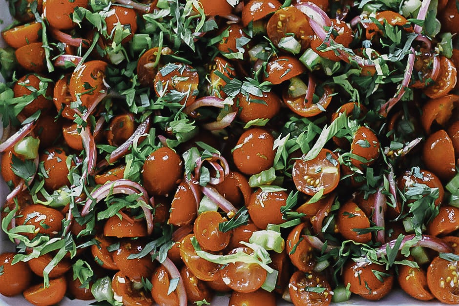 BLOODY MARY TOMATO SALAD - The First Mess