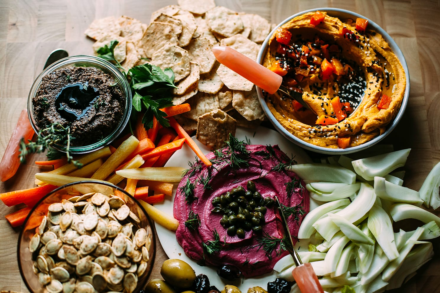 The ultimate vegan snack board for holiday entertaining.