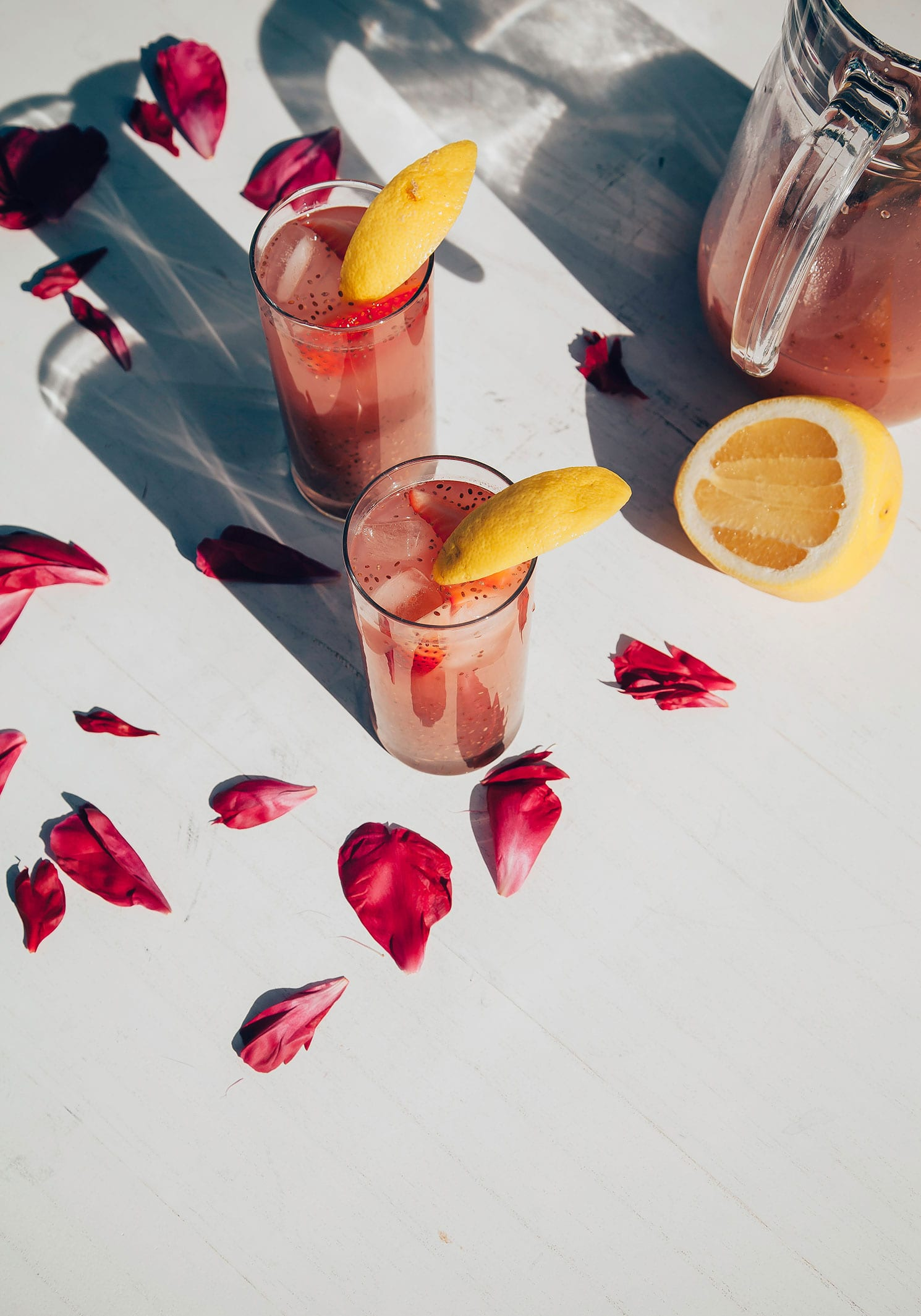 strawberry rosewater chia fresca - The First Mess