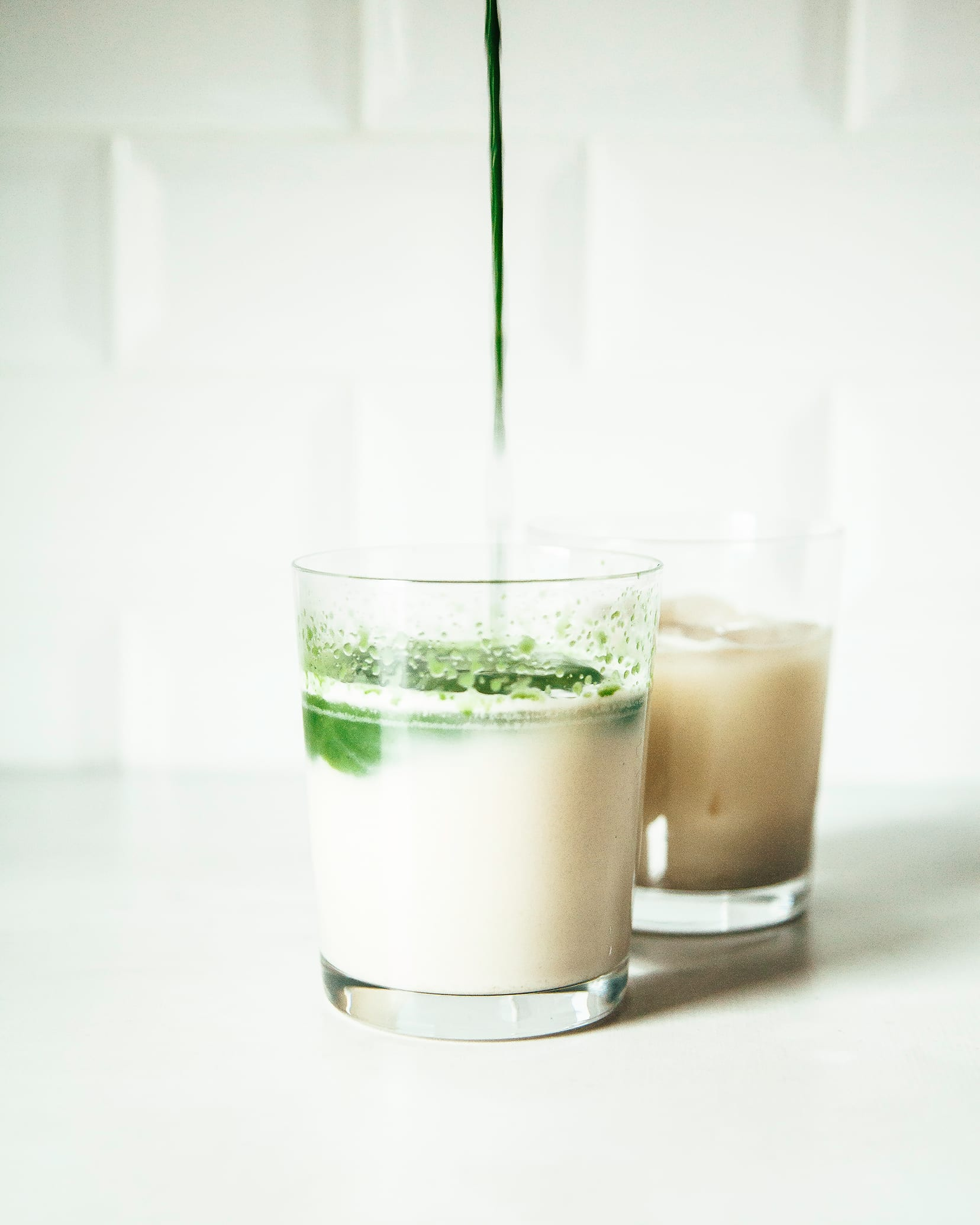 Iced Vanilla Oat Matcha - The First Mess
