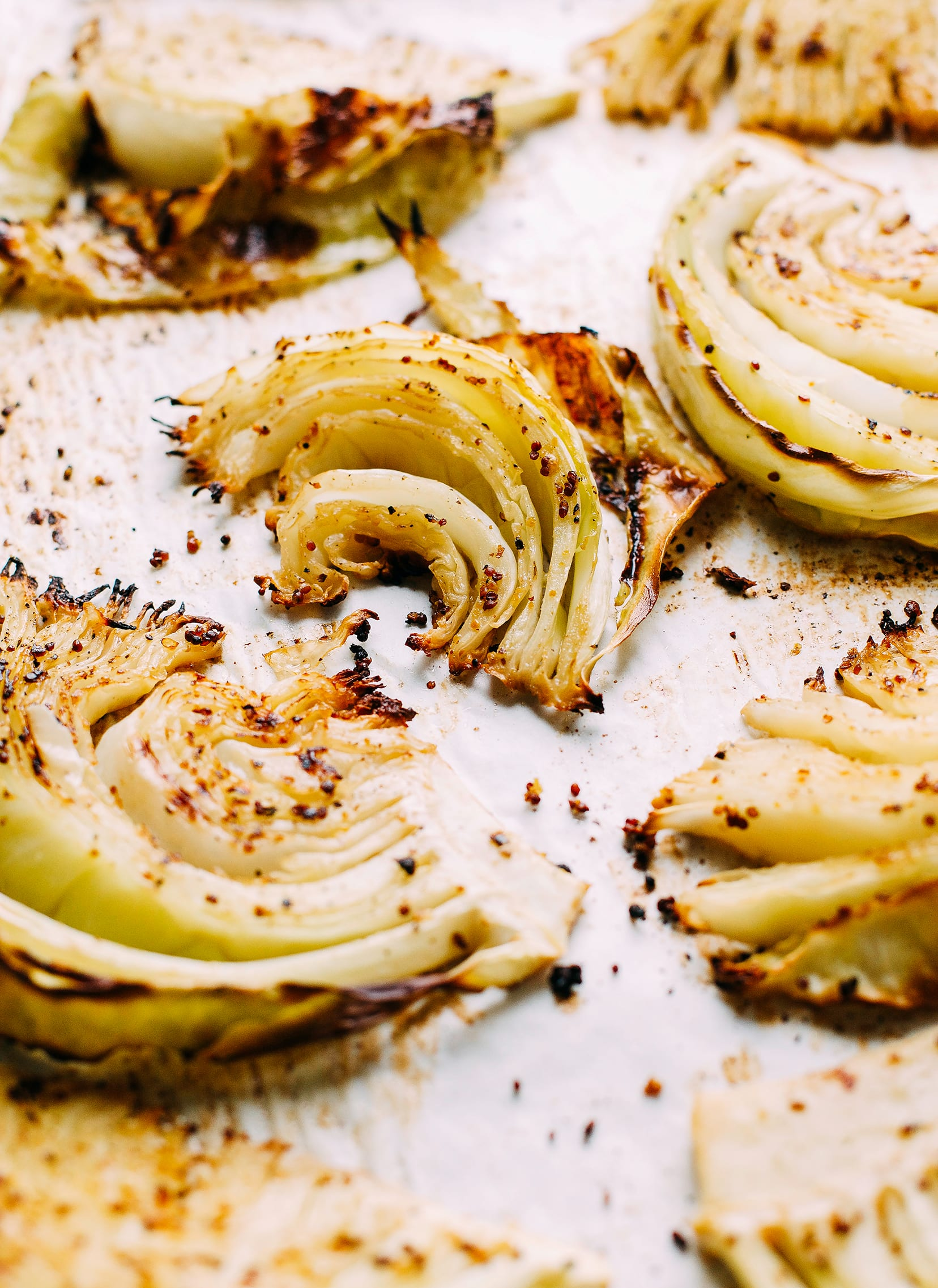 CRISPY MAPLE MUSTARD CABBAGE from The First Mess Cookbook
