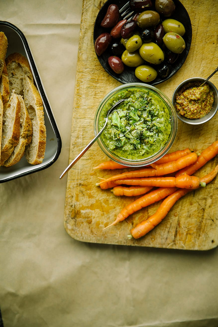 mustard roasted broccoli pâté // the first mess