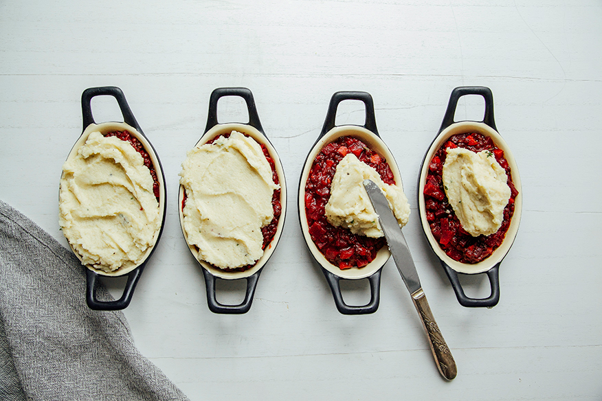garden keeper's pie w/ beets, lentils + creamy celery root mash // @thefirstmess