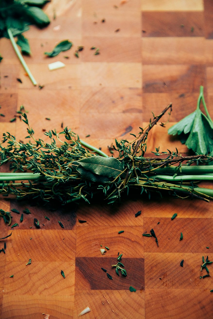 herbs tied up // @thefirstmess