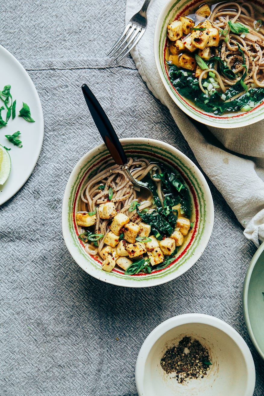 garlic pepper soba w/ chili-roasted tofu // @thefirstmess