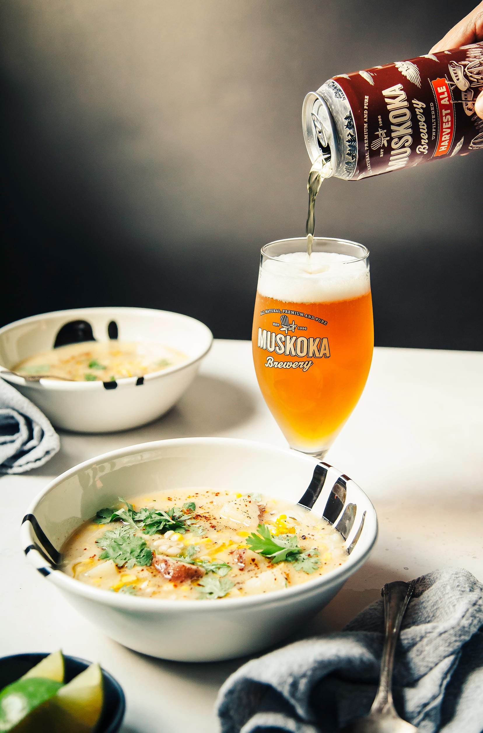 HARVEST CORN CHOWDER WITH BEER & WHITE BEANS - The First Mess