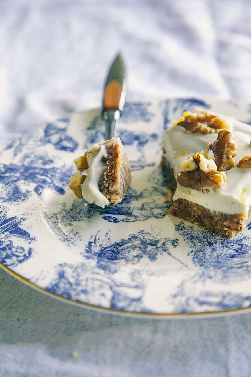raw + vegan carrot cake slice // the first mess