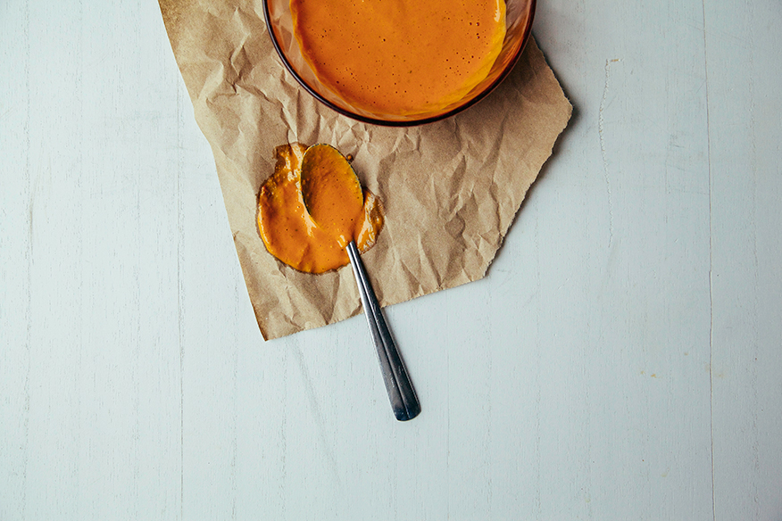 goji ginger tahini cream // @thefirstmess