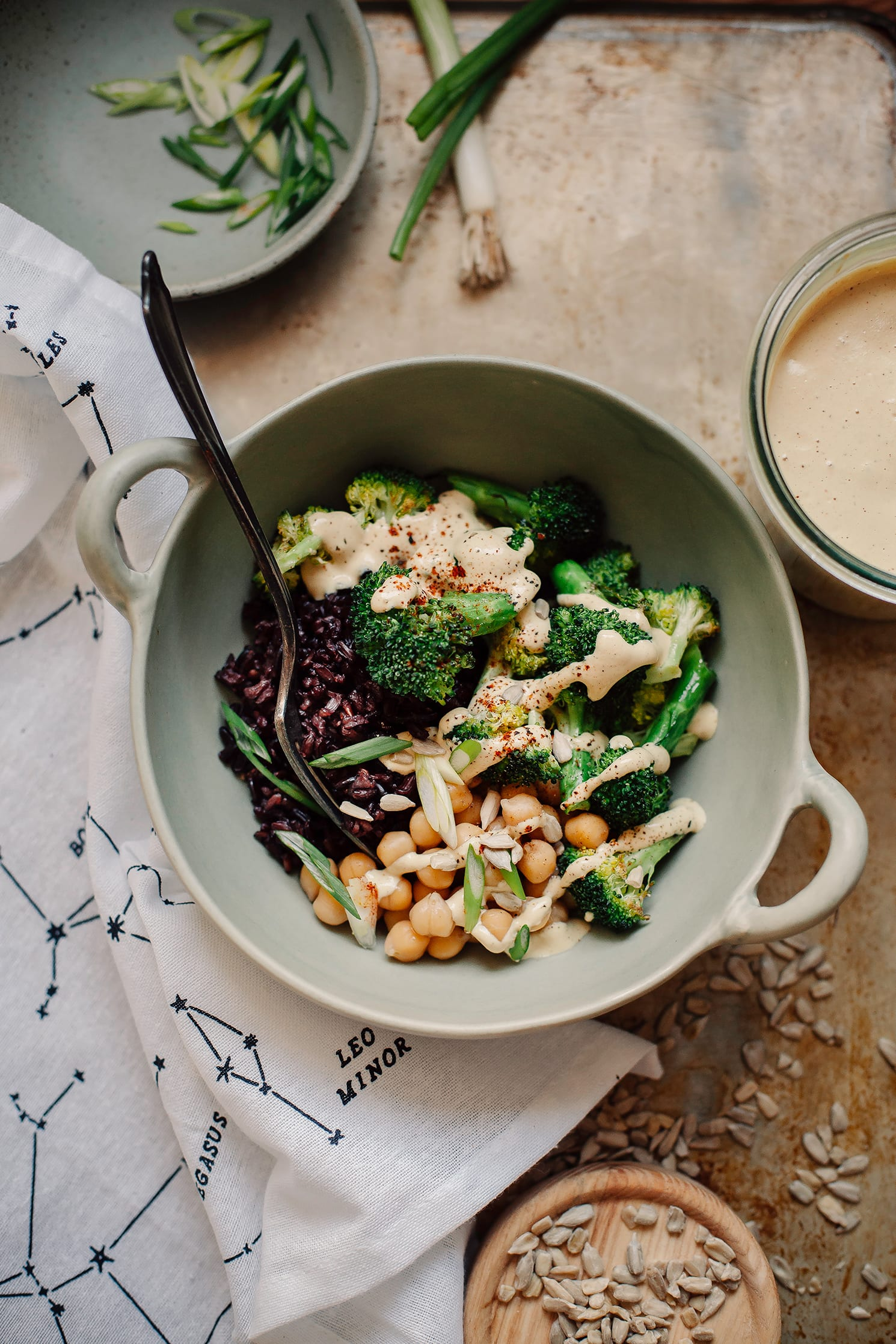vegan special sauce + a roasted broccoli bowl // thefirstmess.com