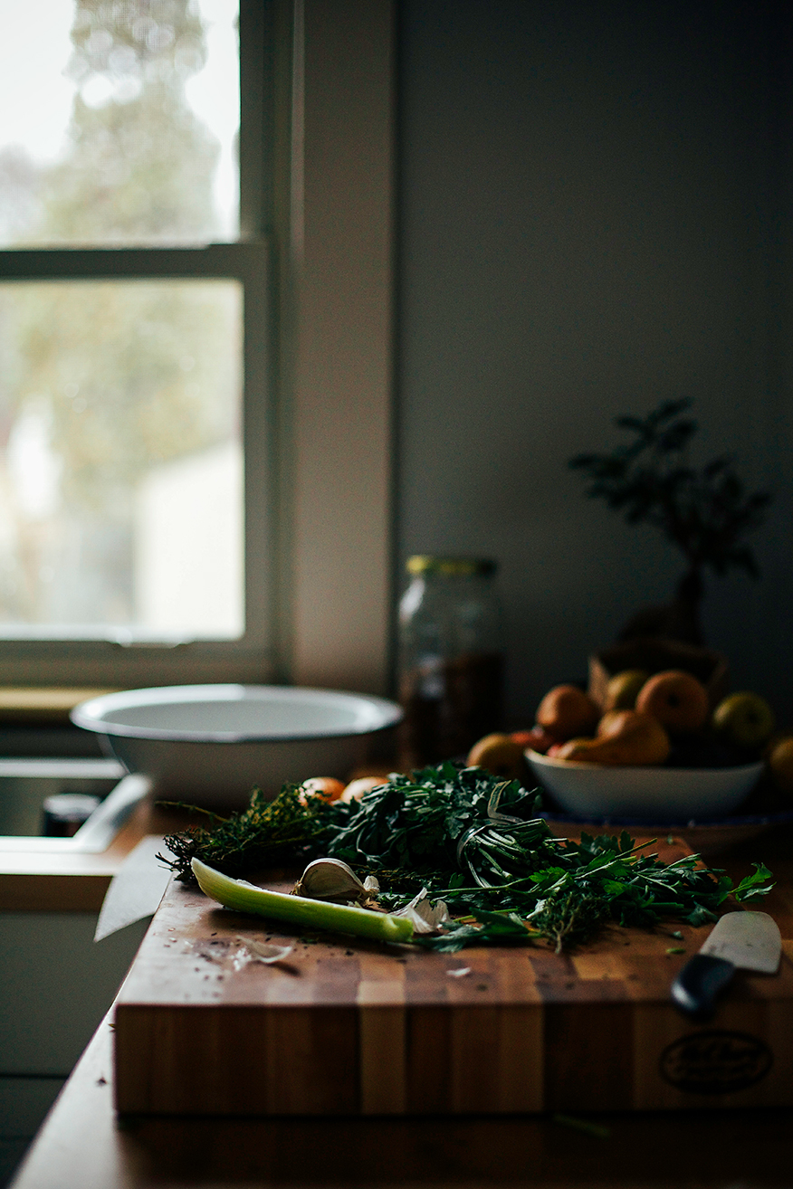 my vegetable stock process // @thefirstmess