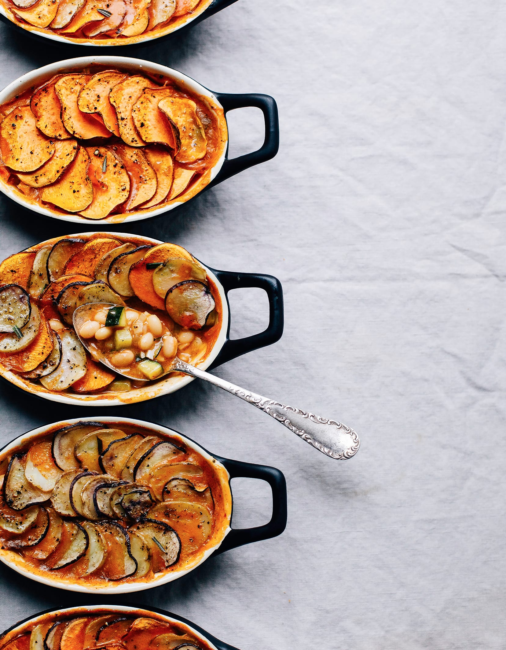 Vegetable and Bean Pot Pies with Crispy Potato Crusts from The First Mess Cookbook