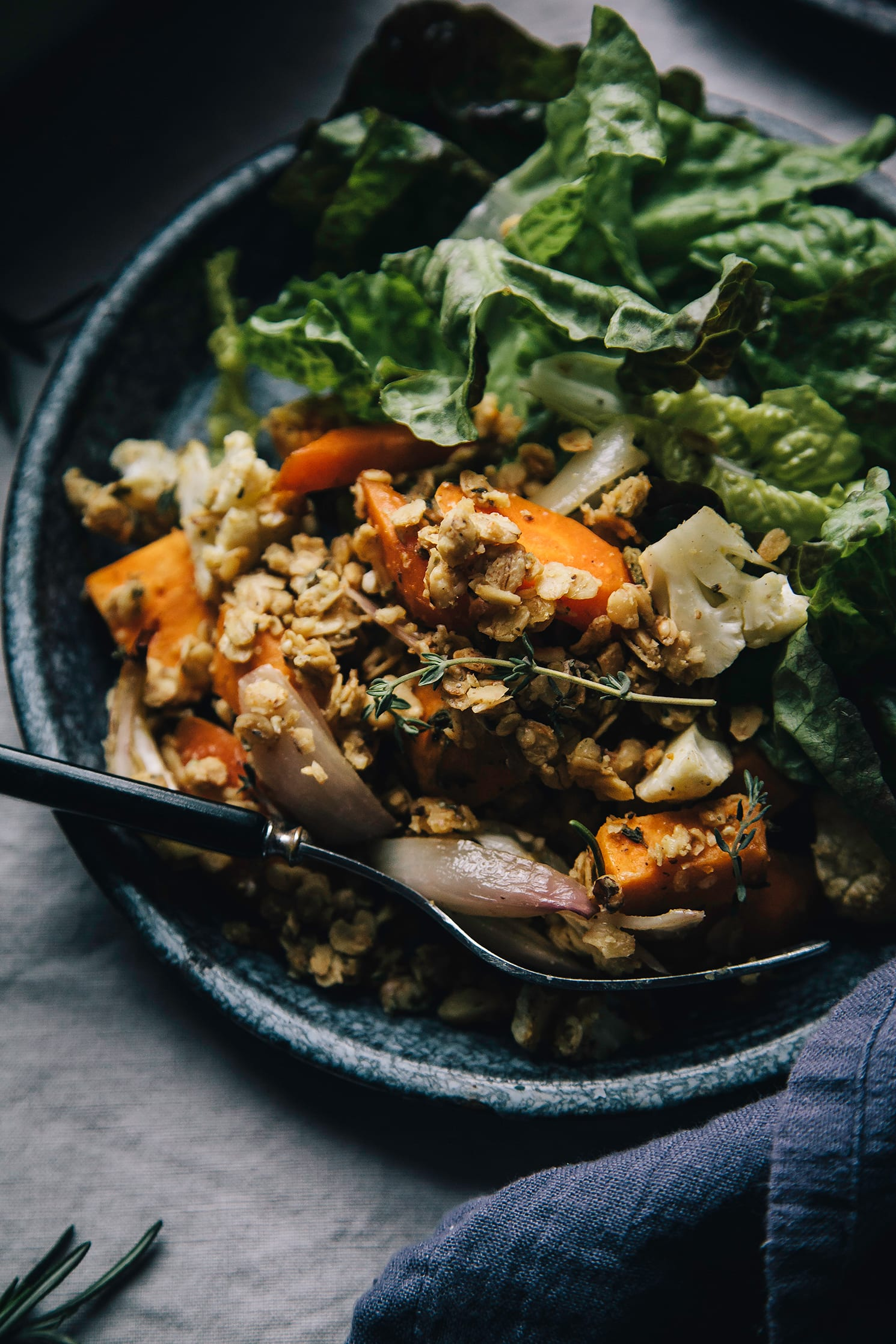 """herb and garlic vegetable crumble from """"Chickpea Flour Does It All"""""""