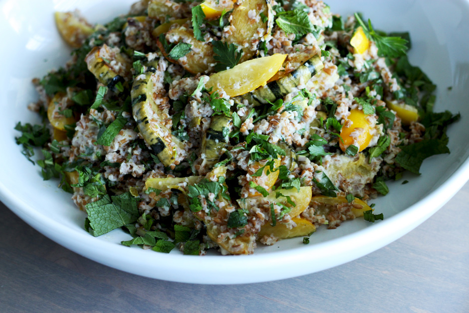 delicata squash and lime tabbouleh-style salad - The First Mess