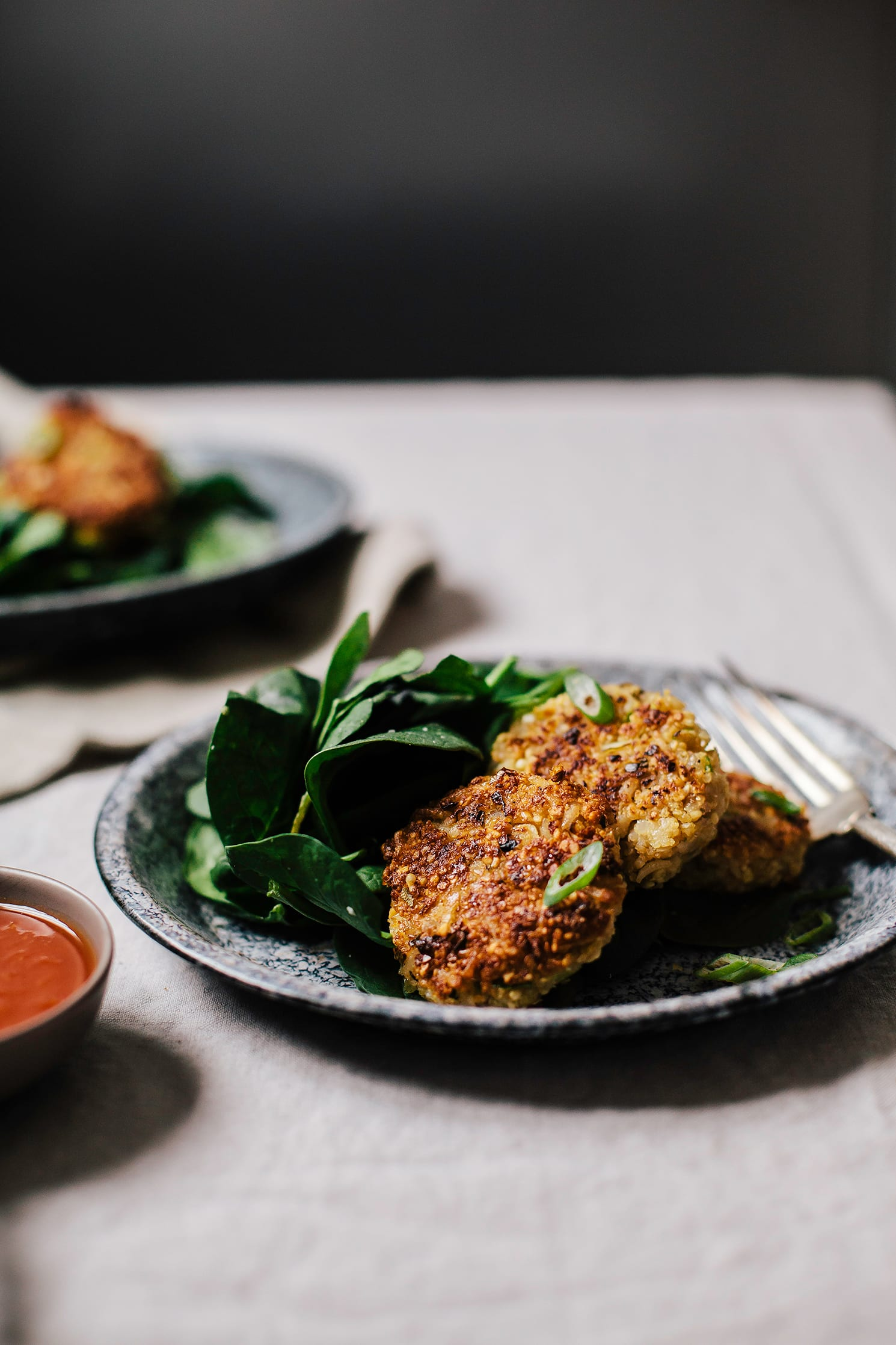 "scallion, miso + peanut patties from ""My Darling Lemon Thyme"" - The First Mess"