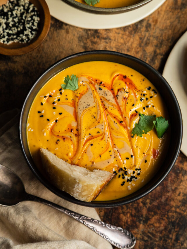 How to make Spicy Sesame Carrot Soup