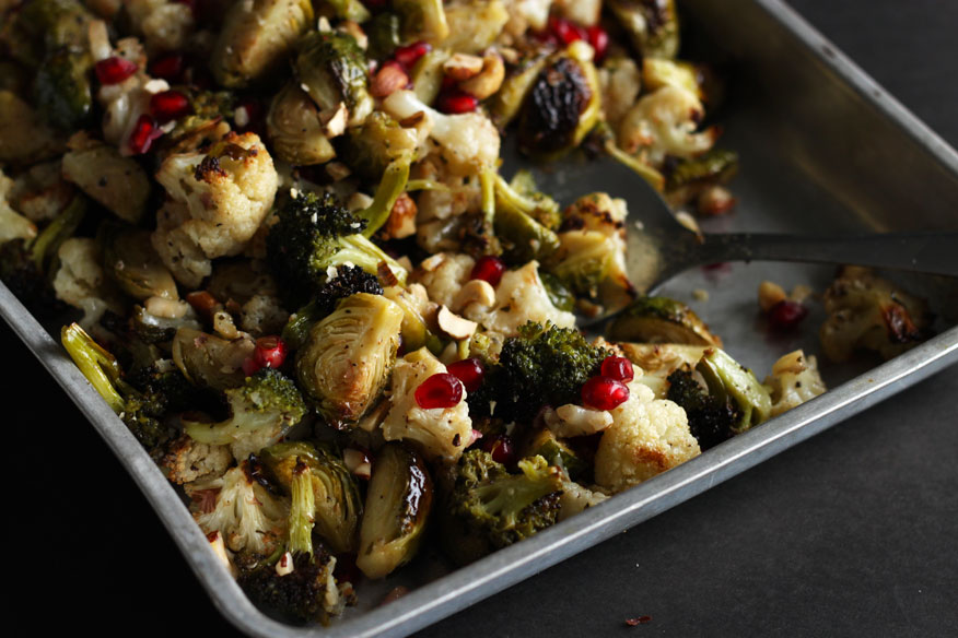 roasted brassicas with maple and dijon - The First Mess