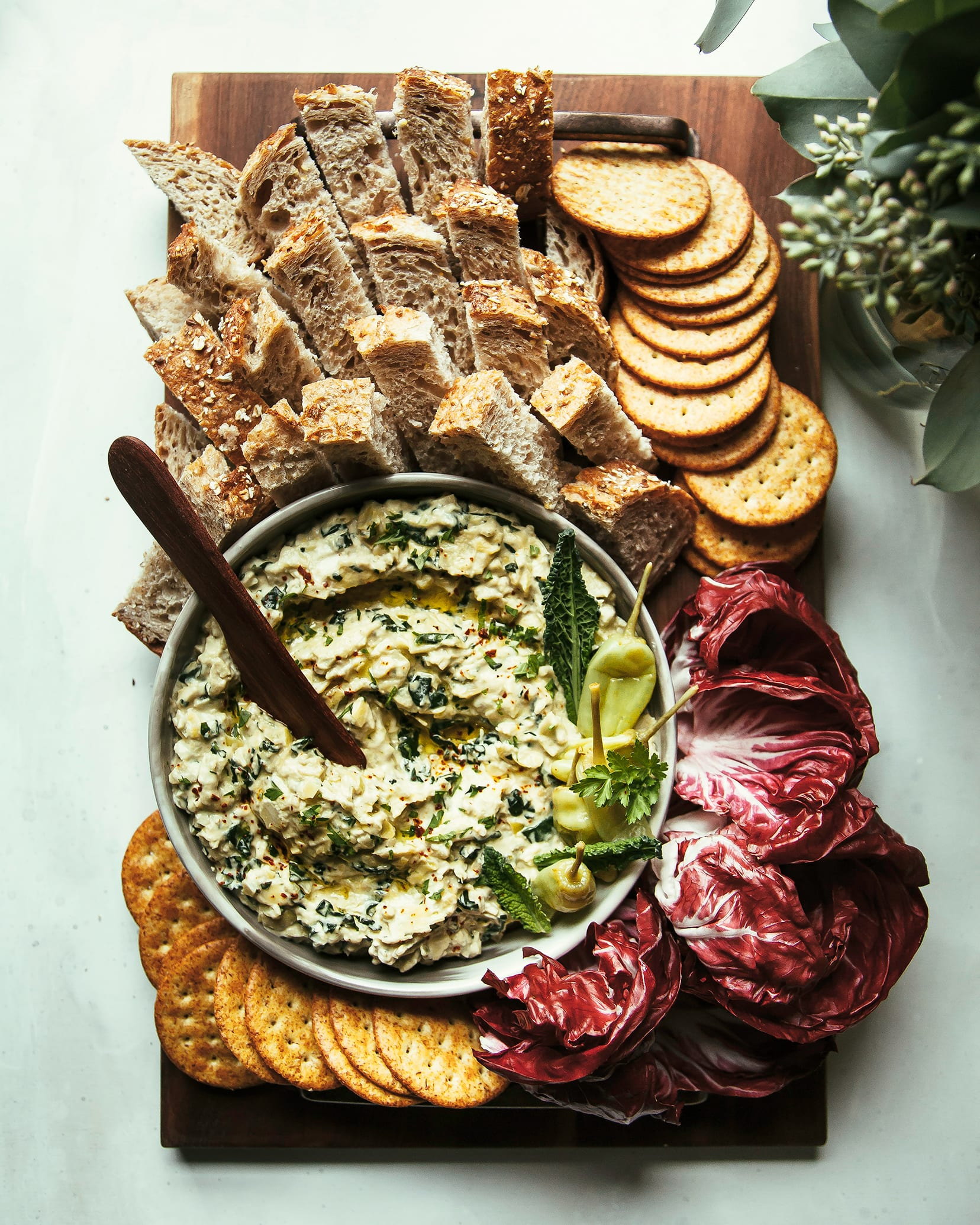 SPICY PEPPERONCINI, ARTICHOKE & KALE DIP (VEGAN)