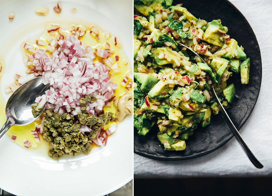 Avocado tartare with roasted beets and dukkah