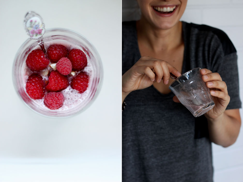 raw raspberry and vanilla chia pudding - The First Mess