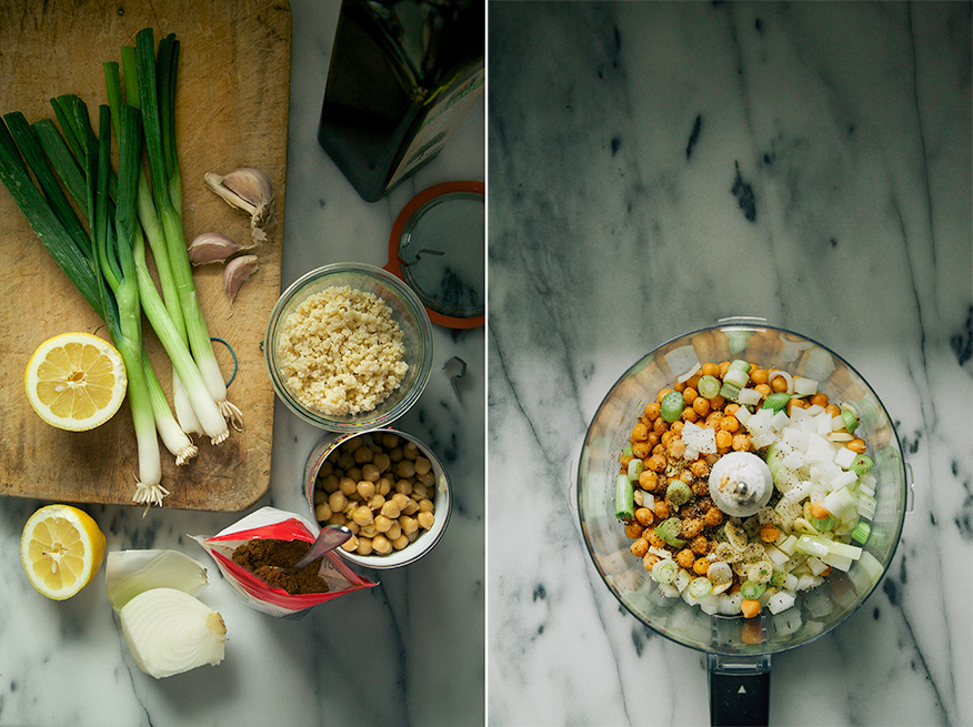 falafel prep // the first mess