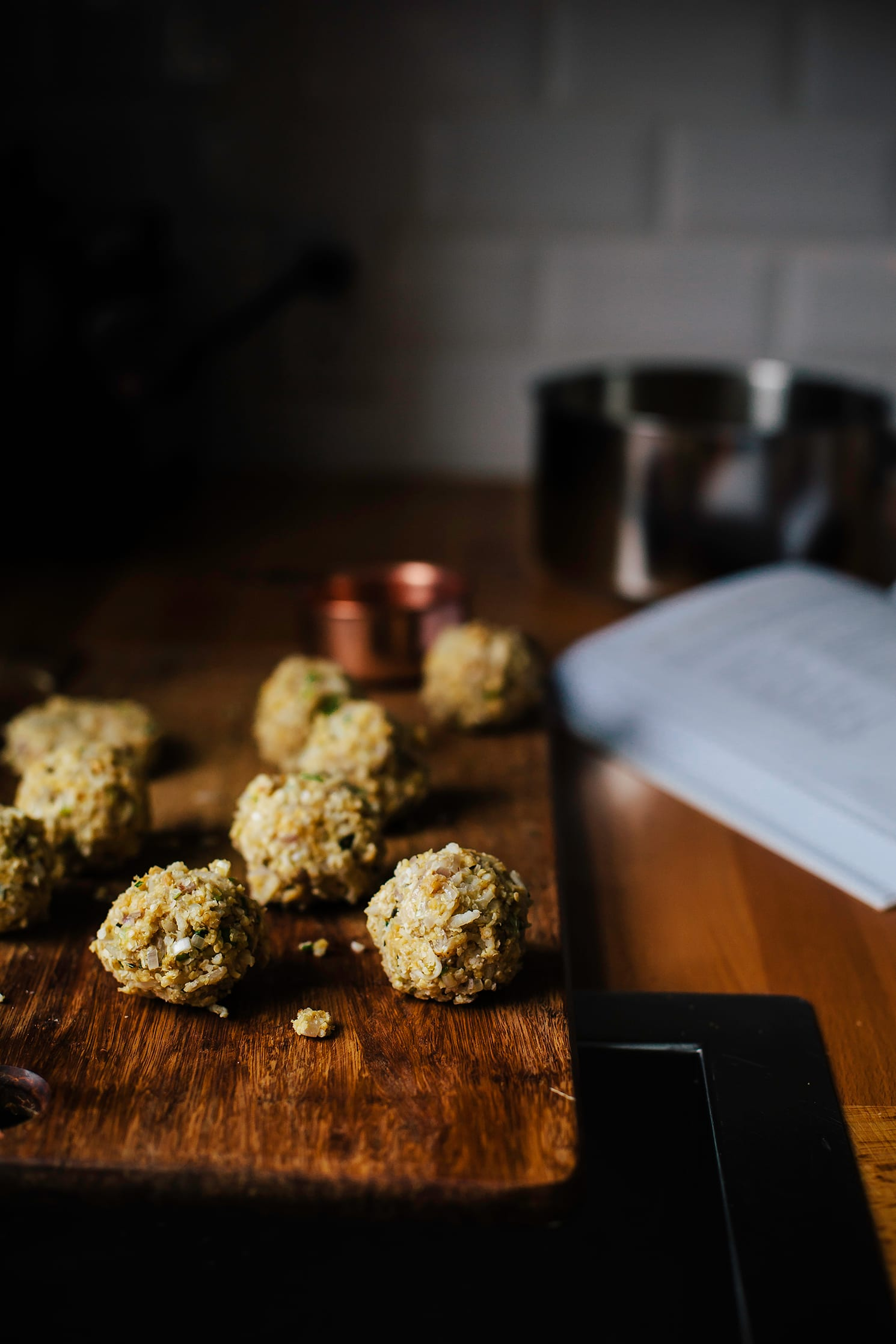 """scallion, miso + peanut patties from """"My Darling Lemon Thyme"""" - The First Mess"""