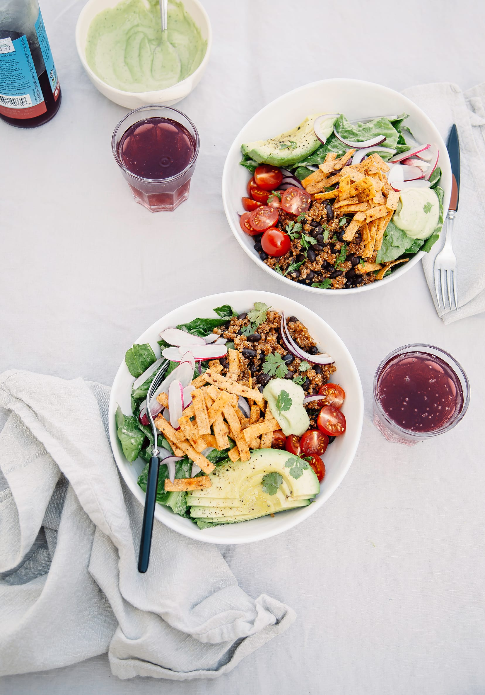 "Fresh Taco Salads from ""Love Real Food"" (vegan recipe)"