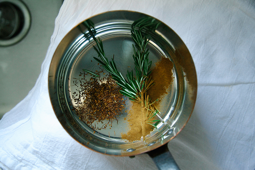 rosemary + vanilla rooibos syrup // the first mess