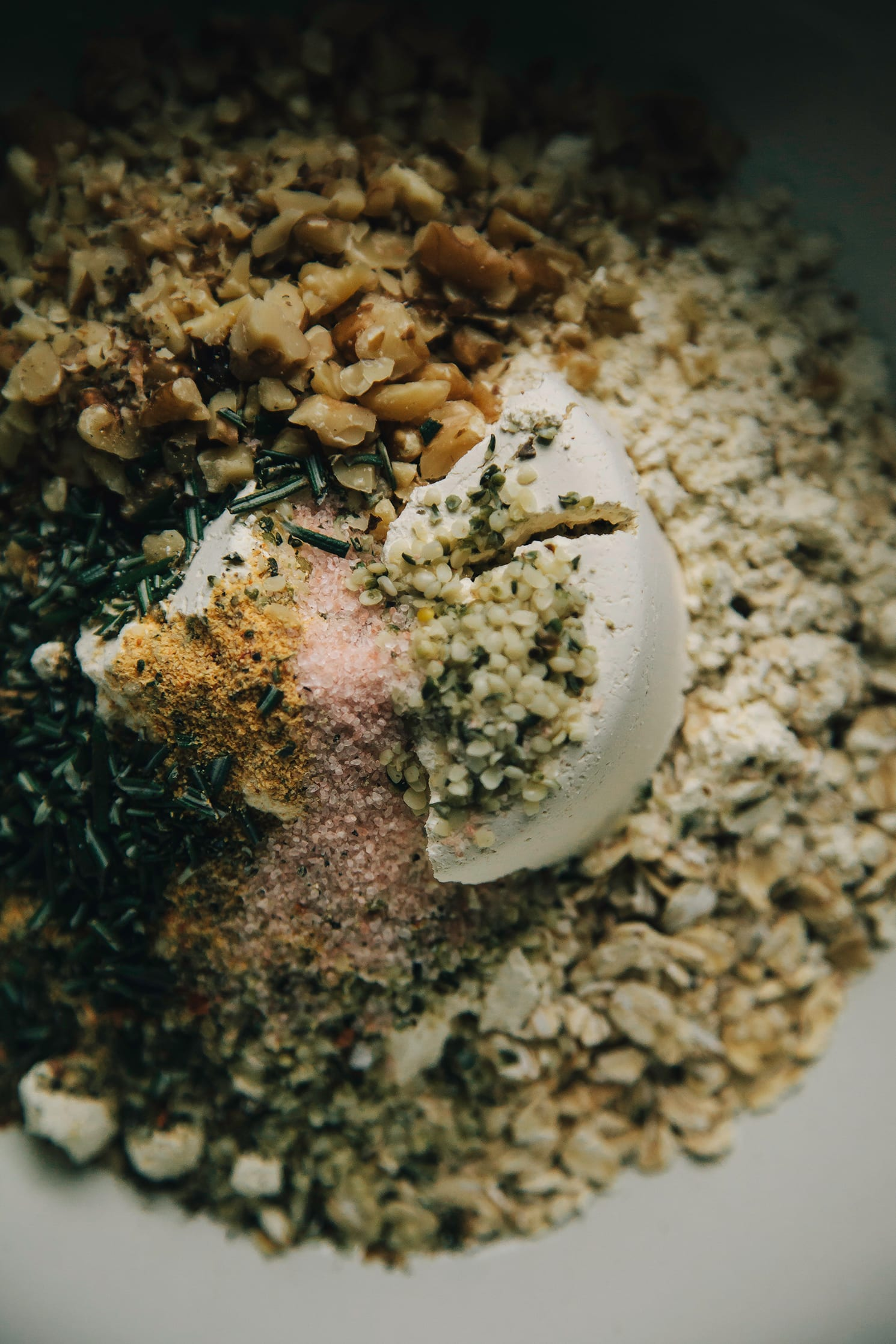 "herb and garlic vegetable crumble from ""Chickpea Flour Does It All"""
