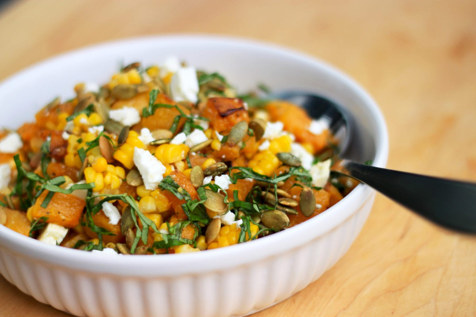 ROASTED BUTTERNUT  CORN SALAD » The First Mess // Plant-Based