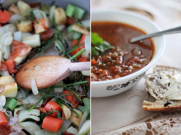 best vegan lentil soup recipe // via @thefirstmess