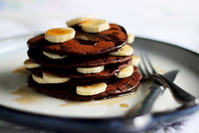 Vegan Hot Cocoa Pancakes - The First Mess