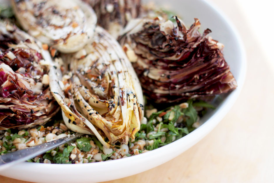 farro with grilled endives + white beans » The First Mess // Plant ...