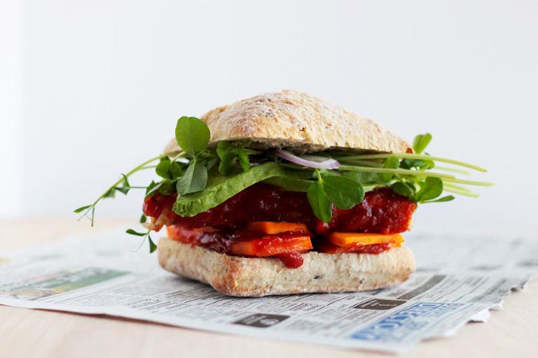 Vegan BBQ Tempeh Sandwich - The First Mess