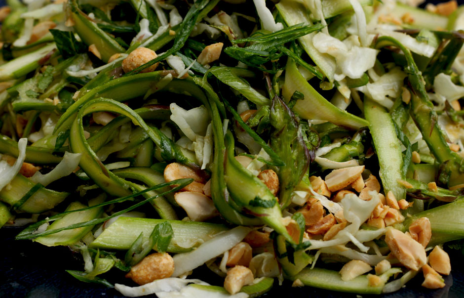 SHAVED ASPARAGUS SALAD WITH CHILI LIME DRESSING » The ...