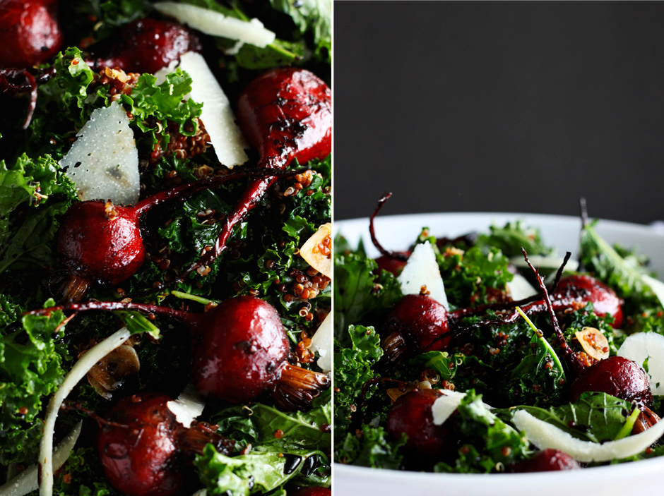 warm kale, quinoa and balsamic beet salad » The First Mess // Vegan ...
