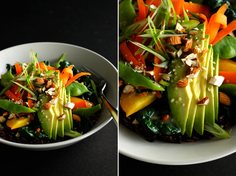 warm veggie rice bowl with ginger miso gravy (vegan) - The First Mess