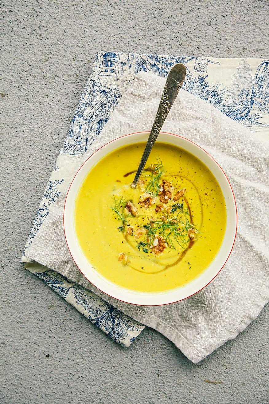 leek, fennel, apple + walnut soup // the first mess