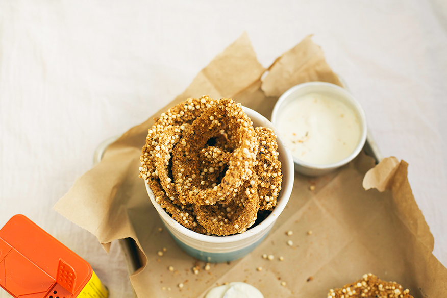 Quinoa Onion Rings