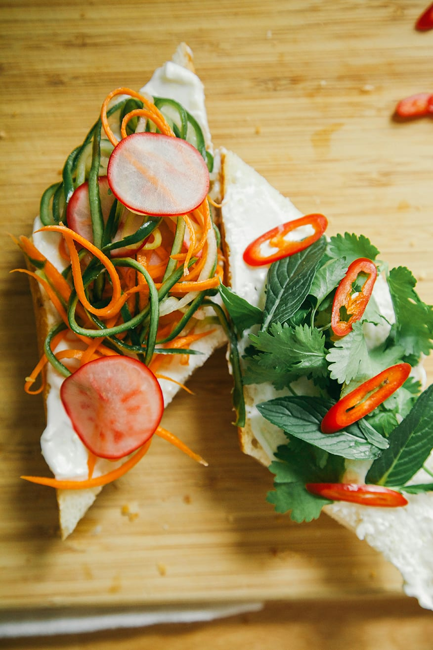 building some banh mi // the first mess