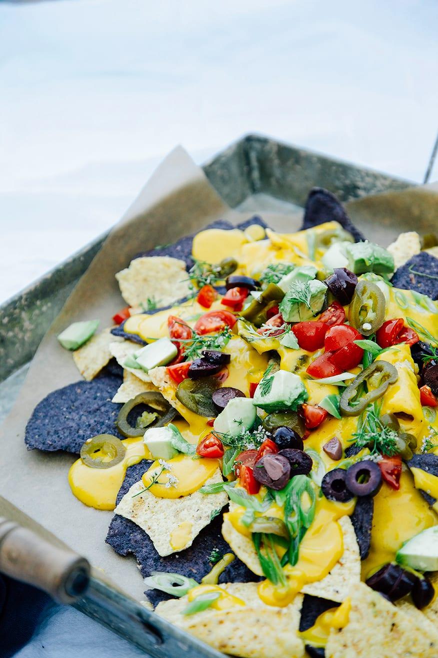 Vegan Butternut Queso Recipe + Nachos