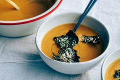 kabocha squash + roasted chestnut soup via @thefirstmess