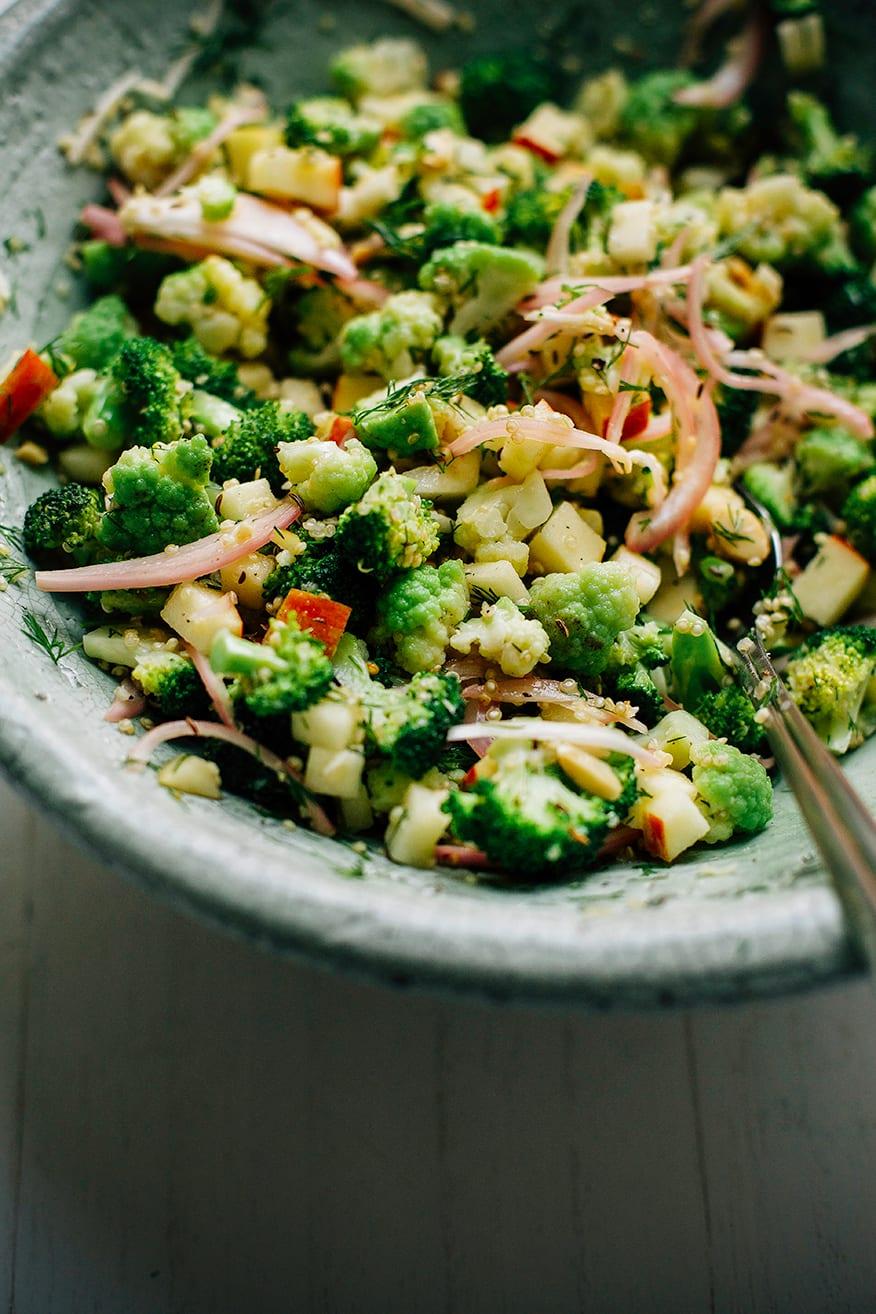 caraway + horseradish broccoli quinoa salad // via @thefirstmess