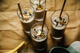 raw banana bread shake // @thefirstmess