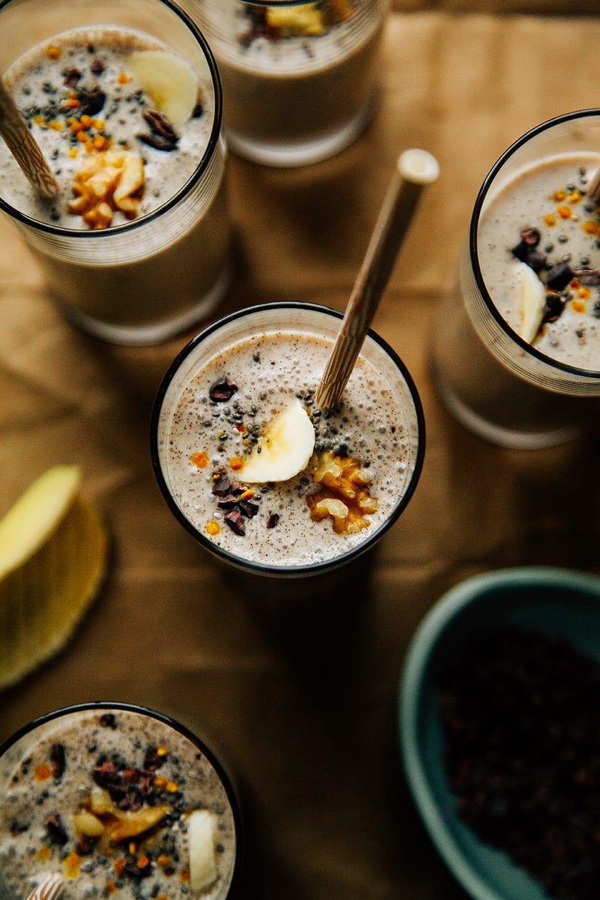 raw banana bread shakes » The First Mess // Vegan Recipes ...