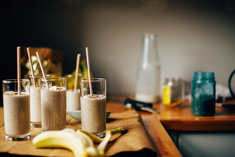 raw banana bread shake // www.thefirstmess.com