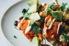 cozy vegan enchiladas w/ lime cream // via @thefirstmess
